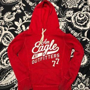 Red American eagle hoodie